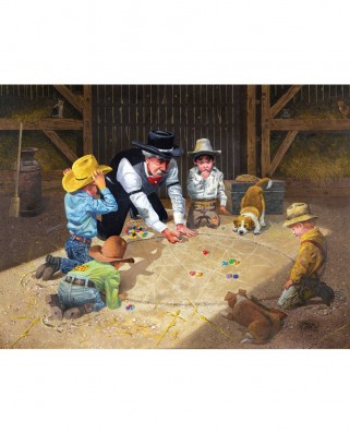 Puzzle SunsOut - Don Crook: Only Game in Town, 500 piese (Sunsout-36013)