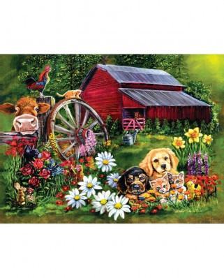 Puzzle SunsOut - Eileen Herb-Witte: Sweet Country, 500 piese (60410)