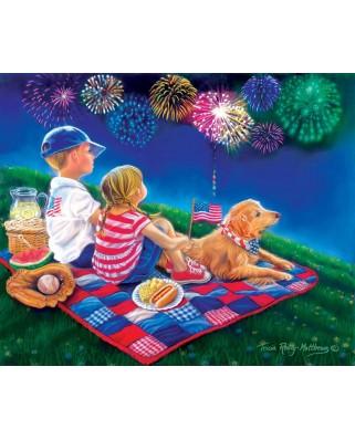 Puzzle SunsOut - Fireworks Finale, 300 piese XXL (Sunsout-35918)