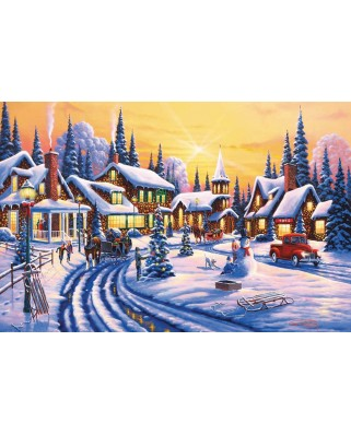 Puzzle SunsOut - Geno Peoples: A Winter Story, 550 piese (51359)