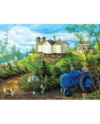 Puzzle SunsOut - Green Pastures, 300 piese XXL (38887)