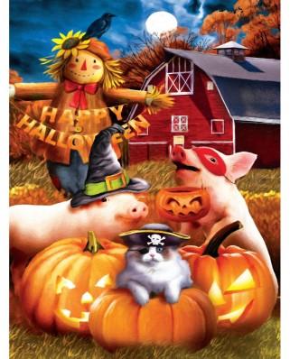 Puzzle SunsOut - Happy Halloween, 500 piese XXL (Sunsout-28737)