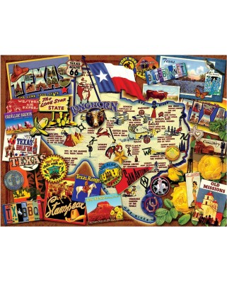Puzzle SunsOut - Kate Ward Thacker: Texas - The Lone Star State, 500 piese (70024)