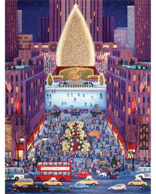 Puzzle SunsOut - Kathy Jakobsen: Rockerfeller Center, 500 piese (60977)