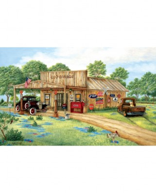 Puzzle SunsOut - Kay Lamb Shannon: Ed's Garage, 550 piese (58213)