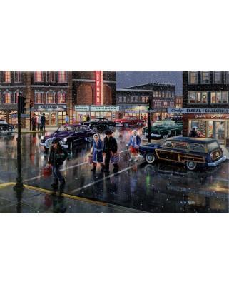 Puzzle SunsOut - Ken Zylla: Christmas Crosswalk, 300 piese (Sunsout-39388)