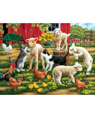 Puzzle SunsOut - Lambs on the Loose, 300 piese XXL (Sunsout-30439)