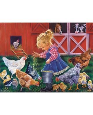 Puzzle SunsOut - Little Farm Girl, 500 piese XXL (Sunsout-35886)