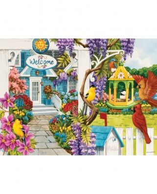 Puzzle SunsOut - Nancy Wernersbach: Wisteria Cottage, 1.000 piese (62939)