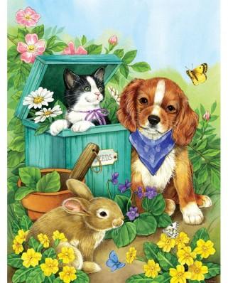 Puzzle SunsOut - Precious Pets, 500 piese XXL (16048)