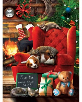 Puzzle SunsOut - Santa Stop Here, 300 piese XXL (28840)