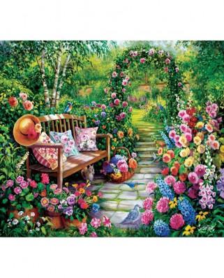 Puzzle SunsOut - Susan Rios: Kim's Garden, 1000 piese (Sunsout-45449)