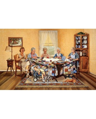 Puzzle SunsOut - The Gossip Party, 1000 piese (Sunsout-25202)