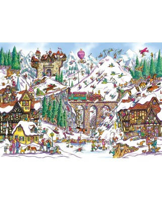 Puzzle Gibsons - Armand Foster: Off Piste, 1.000 piese (51999)