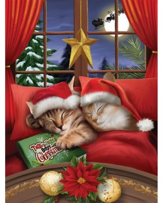 Puzzle SunsOut - To All a Merry Christmas, 500 piese XXL (Sunsout-28836)