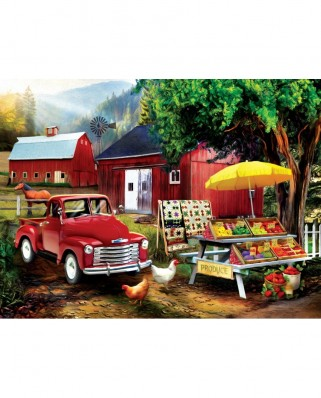 Puzzle SunsOut - Tom Wood: Country Produce, 300 piese XXL (28872)