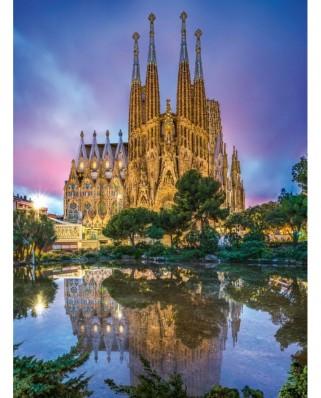 Puzzle Clementoni - Sagrada Familia, Barcelona, 500 piese (35062)