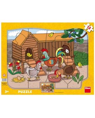 Puzzle Dino - Farm Animals, 12 piese (30310)