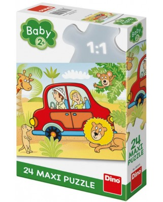 Puzzle Dino - Safari, 24 piese XXL (35019)