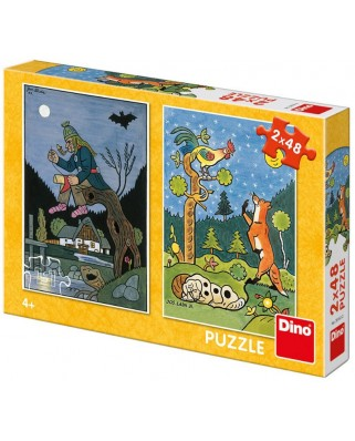 Puzzle Dino - Fairy Tales, 2x48 piese (38161)