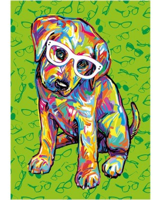 Puzzle Dino - Puppy with Glasses, 300 piese XXL (47220)