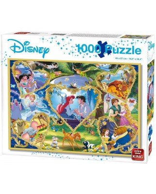 Puzzle King International - Disney - Movie Magic, 1.000 piese (55829)