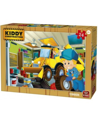 Puzzle King International - Kiddy Construction - Teamwork, 24 piese (55835)