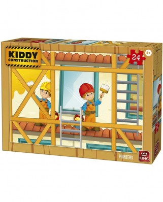 Puzzle King International - Kiddy Construction - Painters, 24 piese (55836)