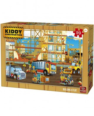Puzzle King International - Kiddy Construction - Building a Flat, 99 piese (55837)