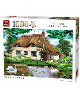 Puzzle King International - Swan Cottage, 1.000 piese (55861)