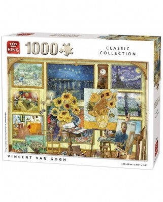 Puzzle King International - Vincent Van Gogh: Collage, 1.000 piese (55865)
