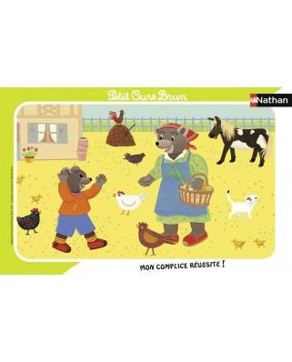 Puzzle Nathan - Little Brown Bear, 15 piese (86133)