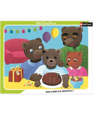 Puzzle Nathan - Little Brown Bear, 35 piese (86136)