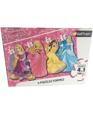Puzzle contur Nathan - Disney Princess, 10/12/14/16 piese (86205)