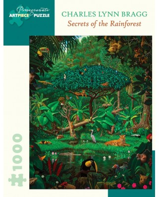 Puzzle Pomegranate - Charles Lynn Bragg: Secrets of the Rainforest, 1991, 1.000 piese (AA1061)