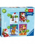 Puzzle Ravensburger - My First Puzzles - Christmas Friends, 2/3/4/5 piese (06854)