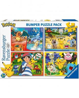 Puzzle Ravensburger - Pokemon, 4x100 piese (06929)