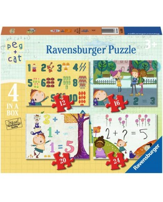 Puzzle Ravensburger - Peg + Cat, 12/16/20/24 piese (06995)