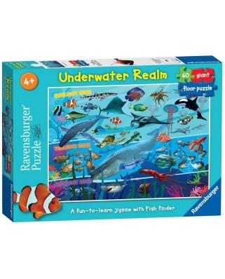 Puzzle de podea Ravensburger - Underwater Realm, 60 piese (07347)