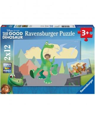 Puzzle Ravensburger - The Good Dinosaur, 2x12 piese (07595)