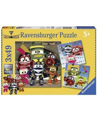Puzzle Ravensburger - Robot Trains, 3x49 piese (08047)