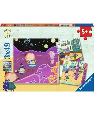 Puzzle Ravensburger - Peg + Cat, 3x49 piese (08059)