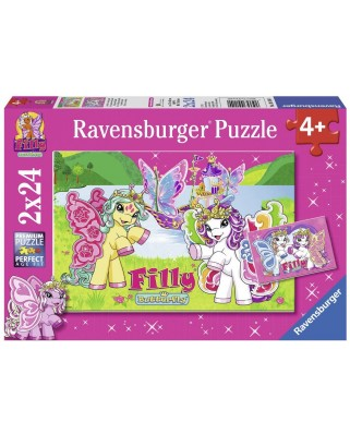 Puzzle Ravensburger - Filly - In the Realm of Scarlet, 2x24 piese (09114)