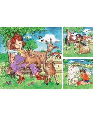 Puzzle Ravensburger - My Favorite Animals, 3x49 piese (09351)