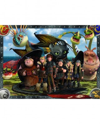 Puzzle Ravensburger - Dragons - Toothless and his Friends, 100 piese (10549)