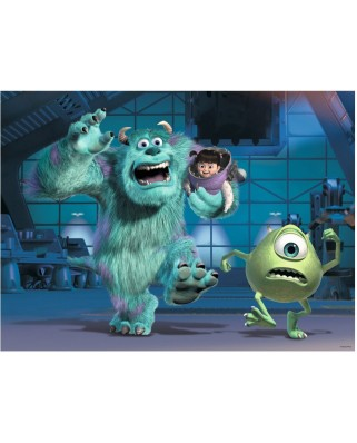 Puzzle Ravensburger - Disney Pixar Collection - Sully, Mike & Boo, 100 piese XXL (10941)
