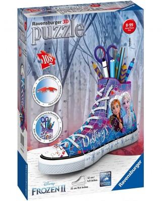 Puzzle 3D Ravensburger - Sneaker - Frozen II, 108 piese (12121)