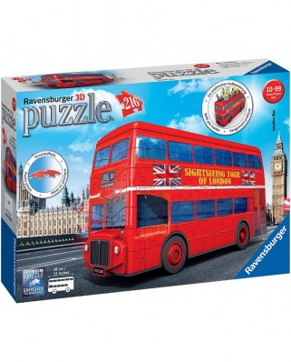Puzzle 3D Ravensburger - London Bus, 216 piese (12534)