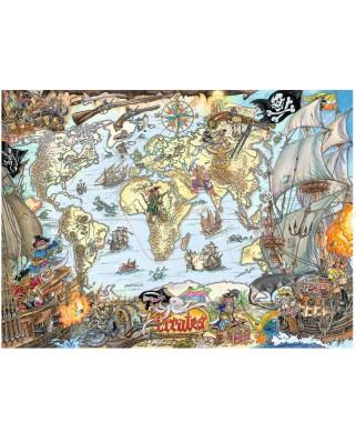 Puzzle Ravensburger - Pirates Map, 200 piese XXL (12802)