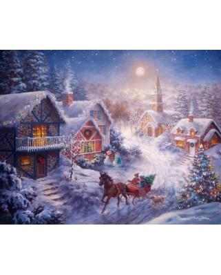Puzzle Ravensburger - Dashing Through the Snow, 300 piese XXL (13581)
